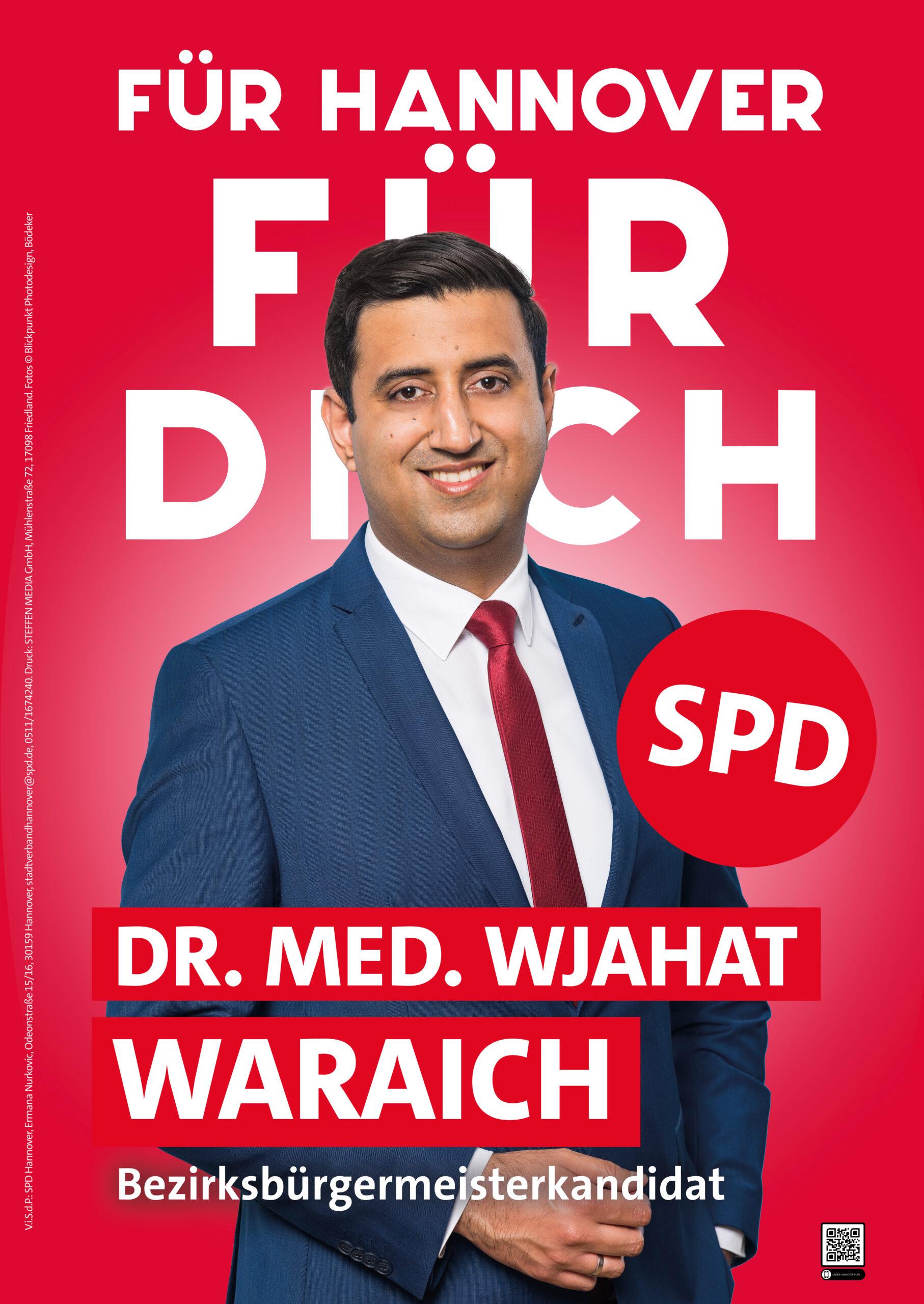 Wahlplakat Dr. Wjahat Waraich